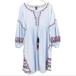 Chelsea & Theodore Oversized Boho Dress Size Large